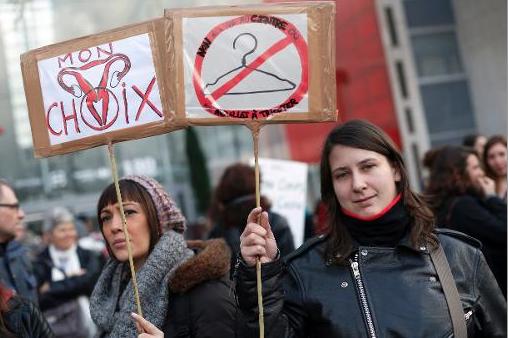 Manifestation en soutien au droit à l'avortement // AFP